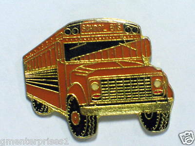 Pins/anstecknadeln Automobilia Able Vintage Schulbus Pin Attractive Appearance