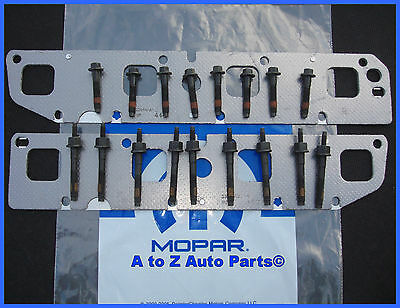 New 2003 2008 Dodge Ram 5 7 Hemi Exhaust Manifold Bolts Gaskets Repair Kit Mopar Ebay