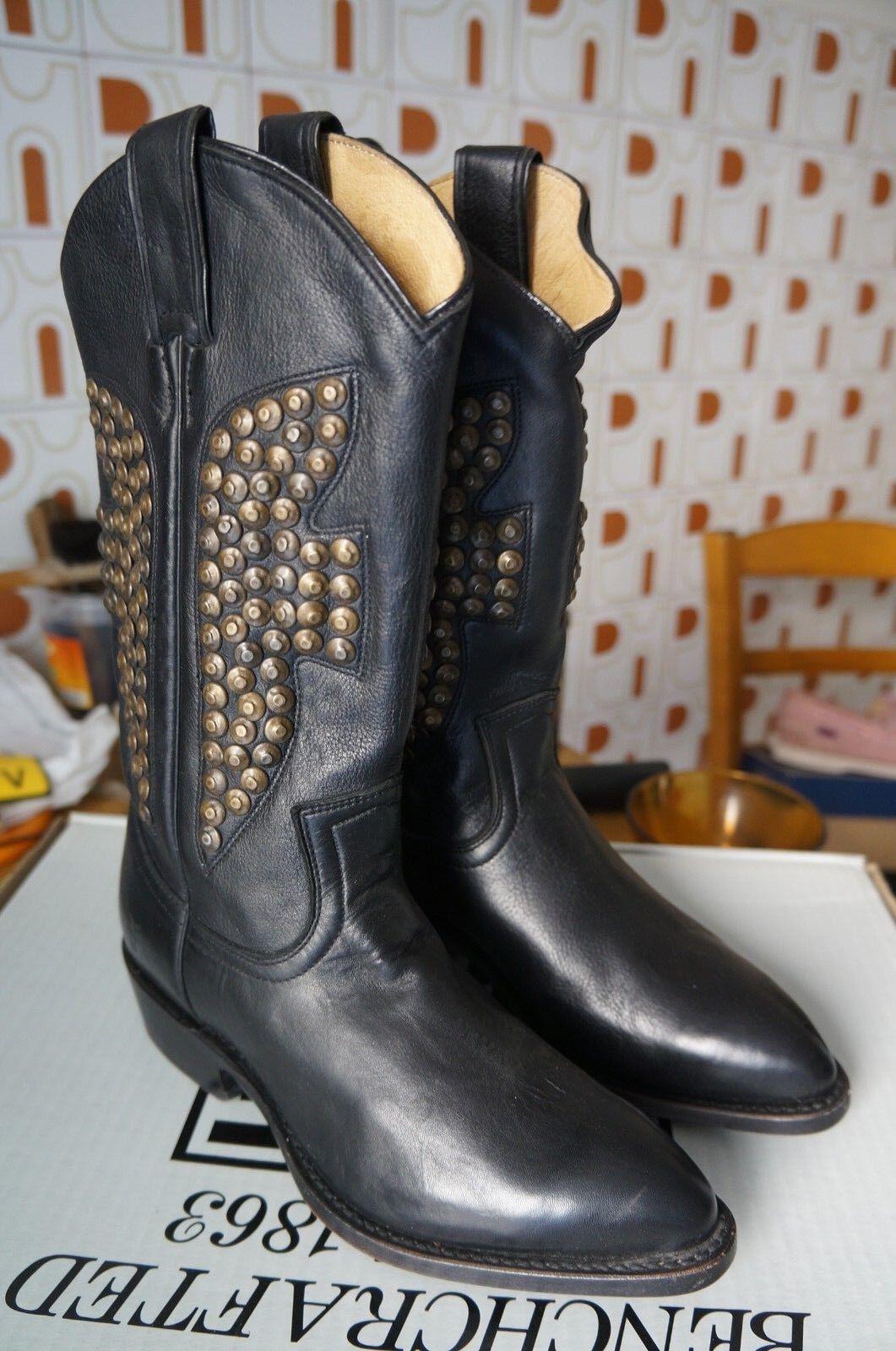 Frye Billy Hammered Stud, bottes femme - black (Blk), 37 EU (5 UK) -