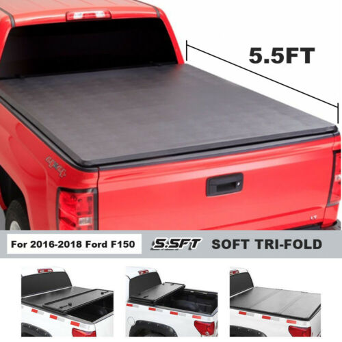 Fit For 2016 2018 Ford F150 5 5ft Bed Soft Tri Fold Tonneau Bed Cover Auto Parts And Vehicles Truck Bed Accessories Magenta Cl