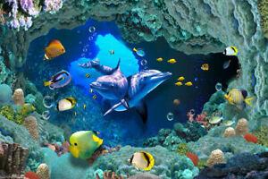Aquarium-Underwater-3D-Window-Removable-Wall-Stickers-Kids-Art-Mural-Vinyl-Decal