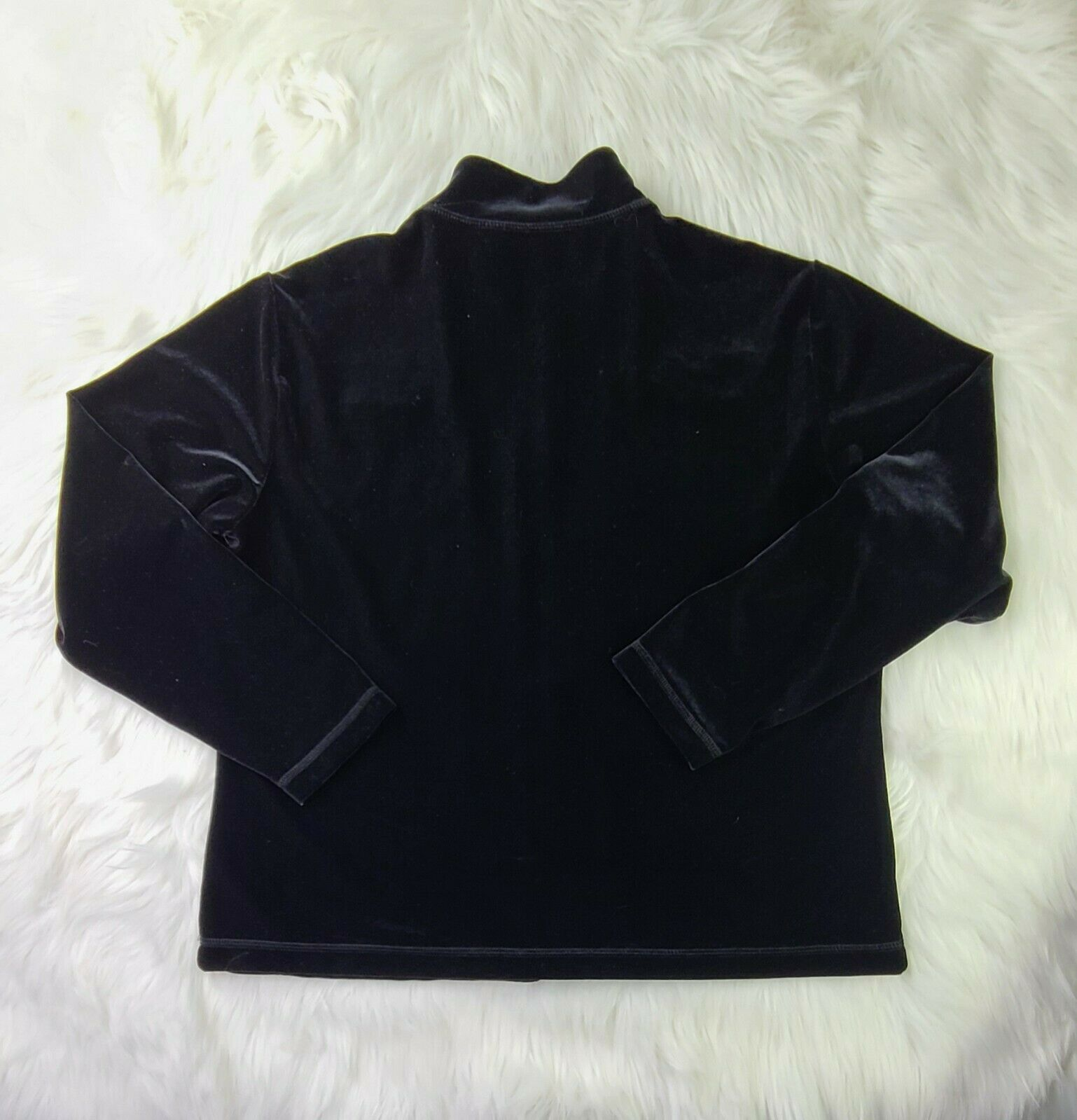 Chico's Black Long Sleeve Zip Up Soft Polyester Blend (2) SHIPPED PROMPTLY 💨