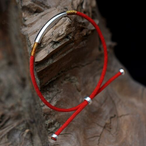 S925 Sterling Silver Lucky Rouge Corde à la mode