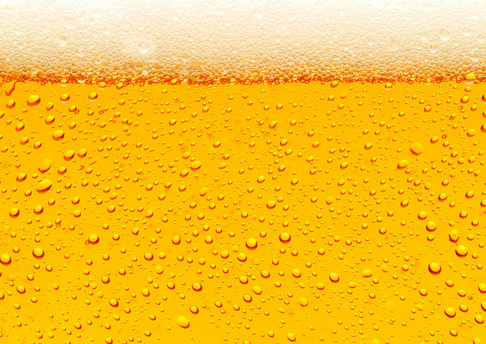 Fototapete Bier Hintergrund Schaum - Kleistertapete oder Selbstklebende Tapete
