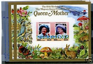 APS-SALES-SHEET-St-Vincent-Bequia-211-212-Perf-amp-Imperf-SS-Queen-Mother