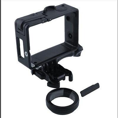 Standard Frame Mount + UV Protector Lens + Buckle + Screw For Gopro Hero 3 3+ 4