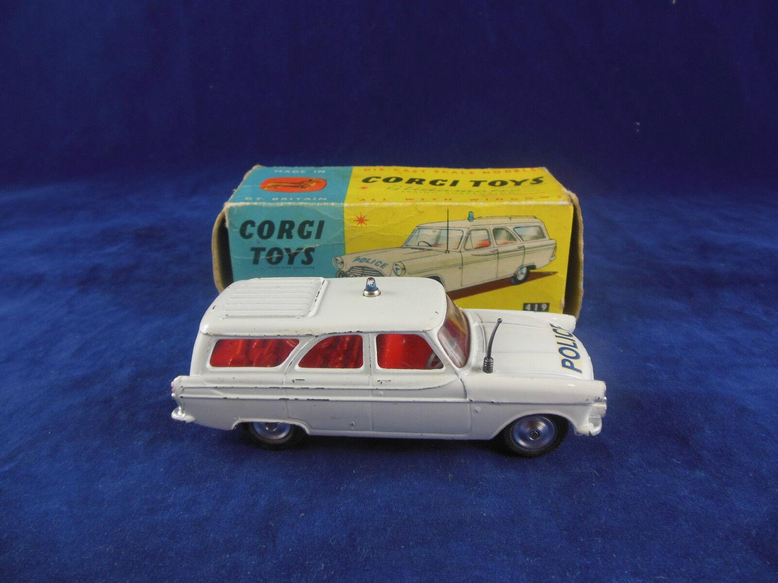 Corgi Toys 419 ford zephyr police autorute Patrol Original & boxed