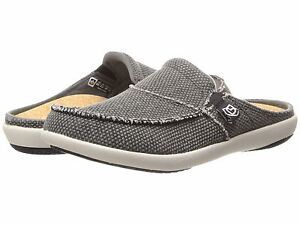 Spenco-Women-039-s-Canvas-Total-Support-Siesta-Slides-Charcoal-Grey-Mult-Sizes