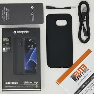 new york 5886d 5543f Details about Mophie Juice Pack Protective Battery Case for Samsung Galaxy  S7 Edge Black