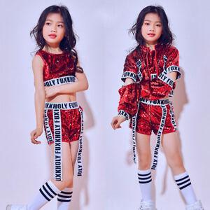 e13edd1b5880 Children's Jazz Dance Hip-hop Performance Clothes Sequin Costumes ...