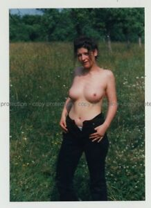Natural-Topless-Female-Undresses-In-Nature-Unbottened-Photo-1990s