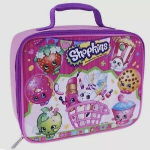 SHOPKINS LUNCH BOX PINK PARTY GROUP GIRLS INSULATED SCHOOL BAG TOTE NWT