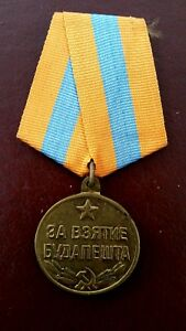 WW2-Russian-Medal-039-For-the-Capture-of-Budapest-039-Original