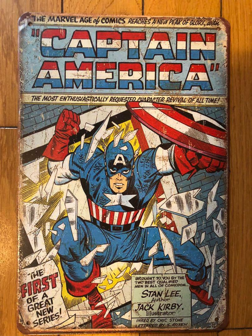 CAPTAIN AMERICA  MARVEL Tinplate