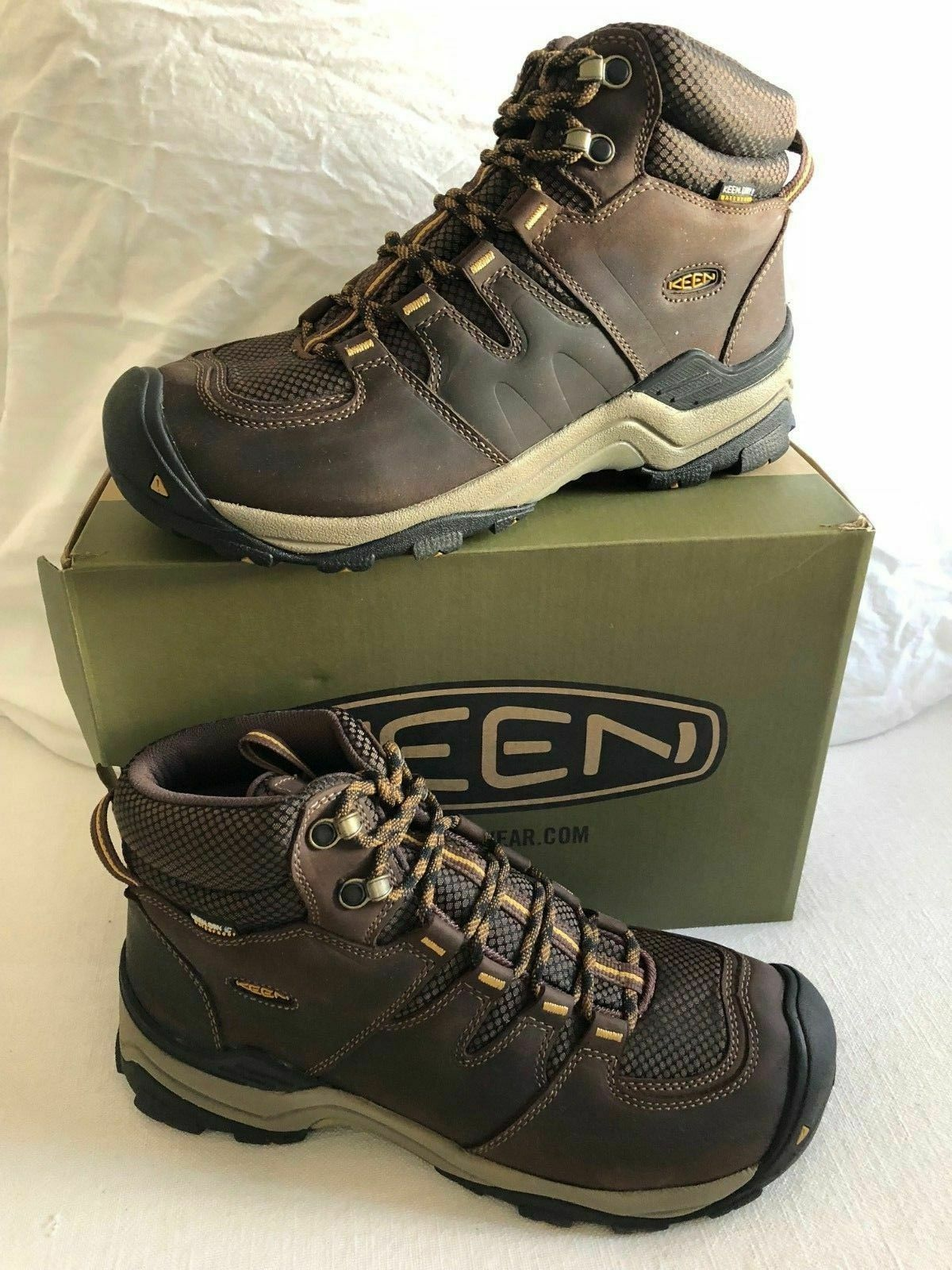 KEEN Outdoor 1015298 Men's Gypsum II  Waterproof Mid Boots Leather Hiking shoes  fast shipping