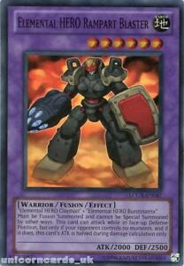 LCGX-EN047-Elemental-HERO-Rampart-Blaster-Super-Rare-UNL-Edition-Mint-YuGiOh-Car
