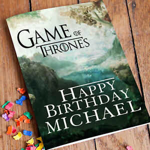 Image Is Loading GAME OF THRONES Personalised Birthday Card FREE Shipping