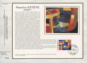 FEUILLET-CEF-DOCUMENT-PHILATELIQUE-ART-TABLEAU-MAURICE-ESTEVE-1986-CULAN