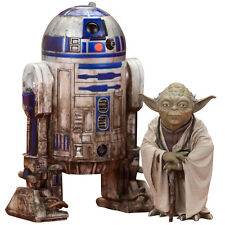 KOTOBUKIYA STAR WARS YODA & R2-D2 DAGOBAH 2-PACK ARTFX+ STATUE FIGURE SW95 10cm