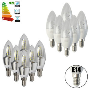 12-6x-Ampoule-LED-E14-SES-Bougie-Lampe-6W-8W-Lumiere-Blanc-Chaud-Froid-Brillant