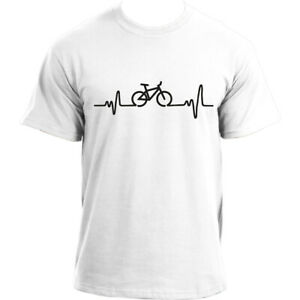 Heartbeat-Cycling-Bicycle-tee-Bike-sports-top-Cotton-Short-Sleeve-T-shirt