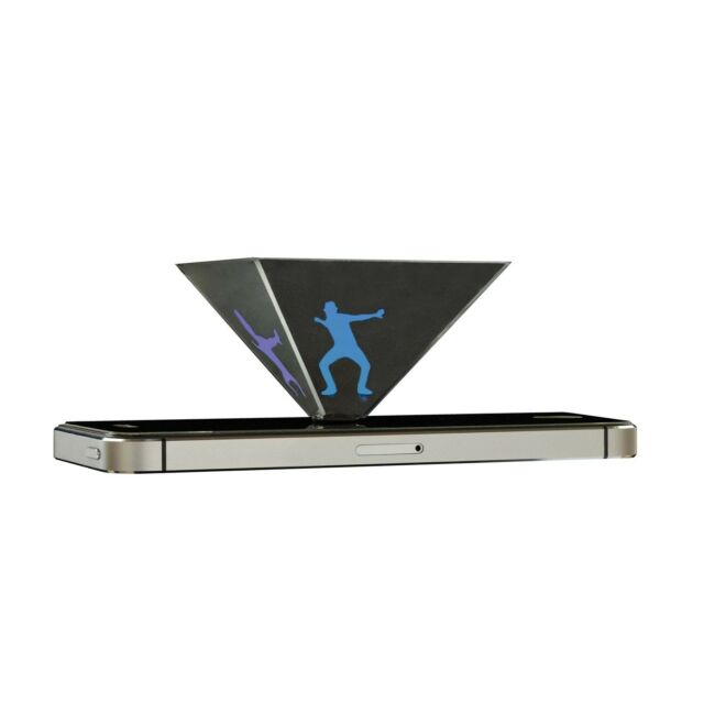 HOLOQUAD HOLOGRAPHIC PYRAMID 3D MOBILE PROJECTOR HOLOGRAM IPHONE SAMSUNG HQ1