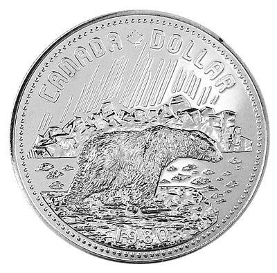 Canada 1980 Arctic Islands Specimen Silver Dollar!!
