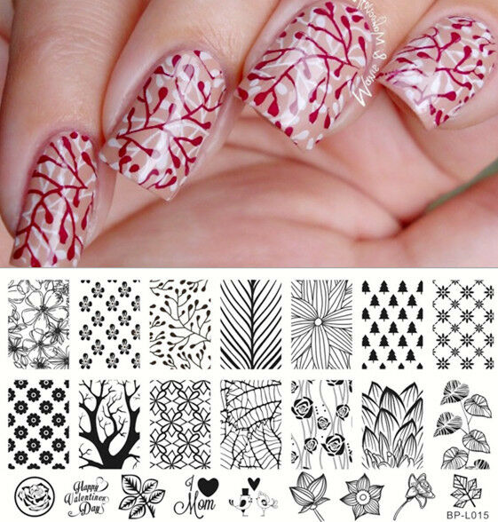 Born Pretty Nail Art Stamp Plate Forest Pattern Trees Image Template ...