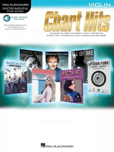 Chart Hits Violin Instrumental Play-Along Book Audio Online NEW 000146214