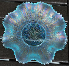 ICE BLUE HEARTS AND FLOWERS BOWL