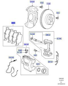 LAND-ROVER-GENUINE-PART-KIT-BRAKE-LINING-Range-Rover-L322-SFC500080