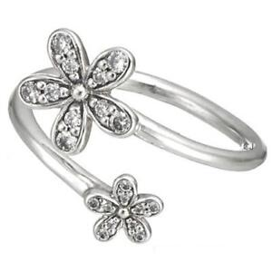 Daisies-Ring-925-Solid-Sterling-Silver-Dazzling-Open-Wrap-Daisy-S925-Size-8-56