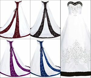 Sexy-Gothic-Ball-Gown-Wedding-Dresses-Formal-Bridal-Gowns-Plus-Size-2-26w-Custom