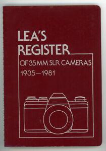 Lea's Register of 35mm SLR Cameras 1935-1981 W/ Peter Dechert Notes & Letters