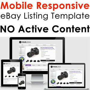 Template Ebay Listing Auction Design Responsive Professional - Ebay listing templates