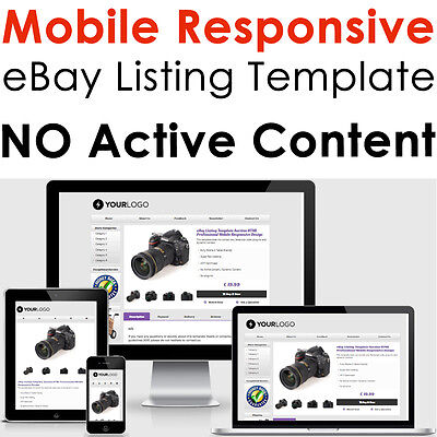 Template Ebay Listing Auction Design Responsive 2020 Professional Compliant Html Ebay