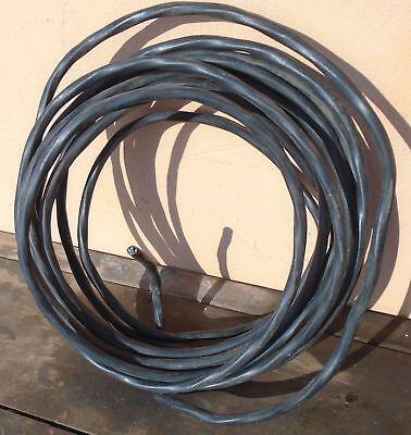 altes 3 fach Alukabel schwarz gedrehtes Stromkabel AP Schalter Steckdose