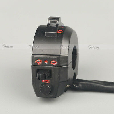 "Motorcycle 7/8"" Handlebar Control Horn Turn Signal Light Hi/Lo Beam Left Switch"