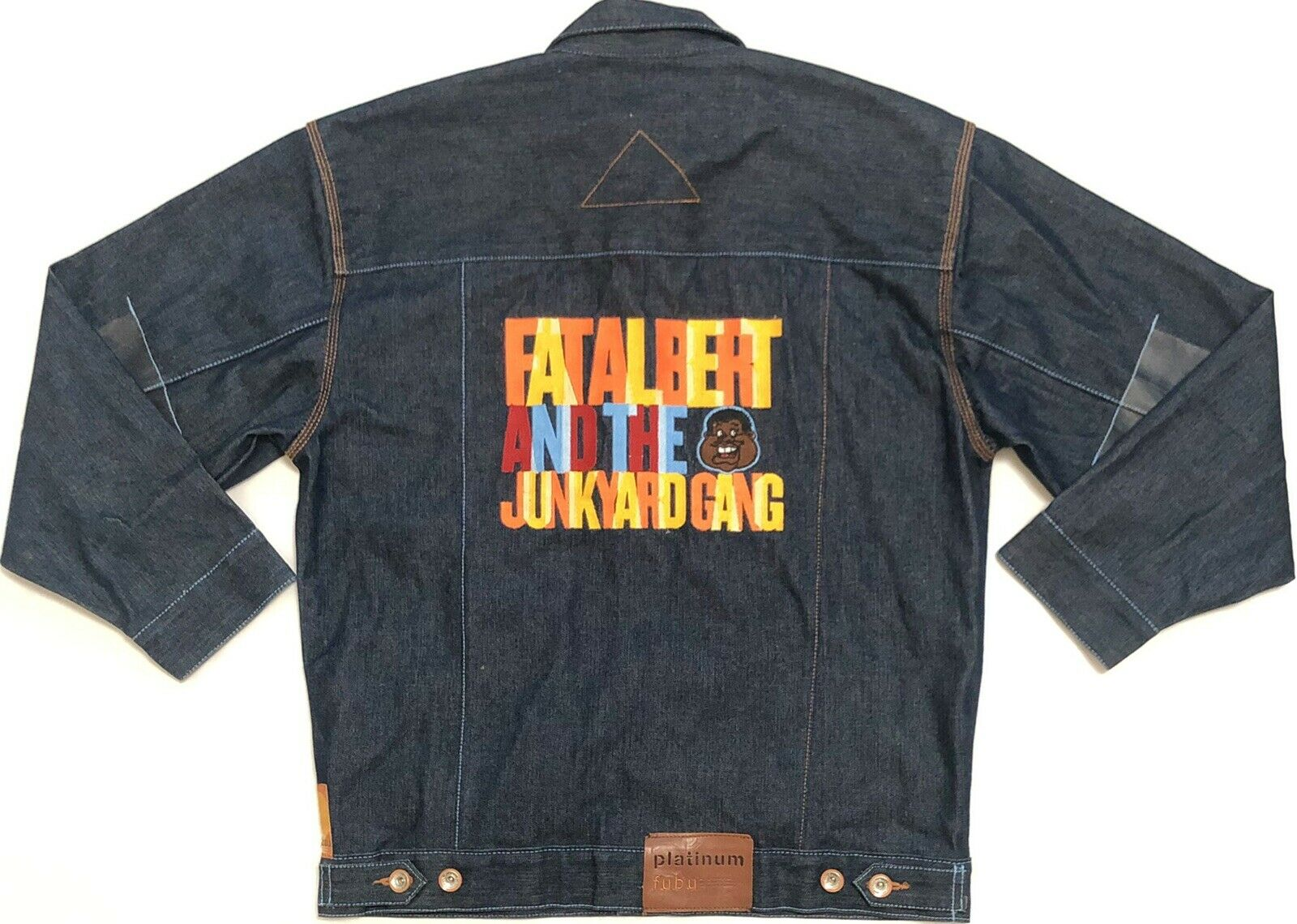 3ad0346a7ae Vtg Fat Albert And The Junkyard Mens Denim Fubu Platinum Sz Large By Shirt  nyvyib1974-Casual Button-Down Shirts