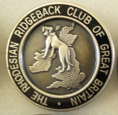 THE RHODESIAN RIDGEBACK CLUB OF GREAT BRITAIN Enamel Lapel Pin Badge DOGS