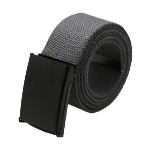 Nuevo Cinturón Hebilla De Lona Kruze para hombre de diseñador para Jeans Grande Alto King Tamaños 082
