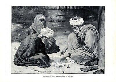 Kenntnisreich Wahrsager In Kairo Xl Kunstdruck 1905 V. Max Rabes * In Samter Hellseher Ägypten