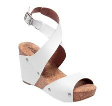 d560b2a631 item 2 Lucky Brand Moran White Leather Wedge Sandals Size 7.5 M EUC -Lucky  Brand Moran White Leather Wedge Sandals Size 7.5 M EUC