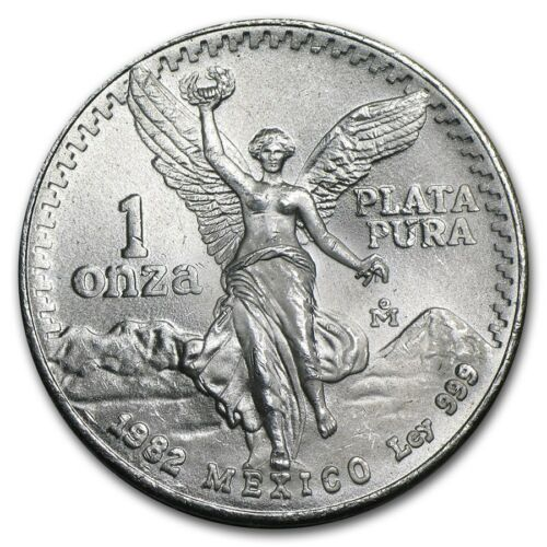 1982 Mexican Libertad 1oz .999 Fine Silver Coin BU //// First Year of Mintage
