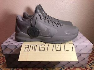 9d3ed4d9a3c4 Nike Zoom Kobe V 5 FTB Fade to Black Tumbled Grey 869454 006 Men ...