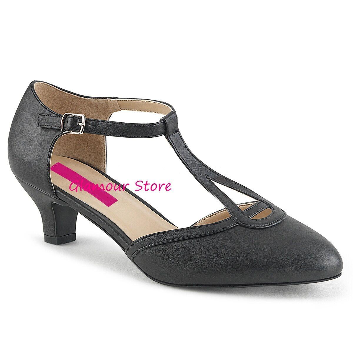 Sexy DECOLTE' tacco 5 cm NERO OPACO dal scarpe 39 al 46 cinturino scarpe dal GLAMOUR chic 478cfa