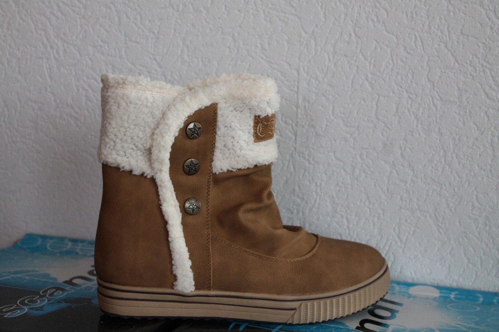 Damen Stiefeletten gefüttert  Winter Schuhe Stiefel gefüttert Stiefeletten Knöchelschuhe Fellrand b28ef4