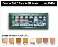 Vallejo Acrylic Paints Face & Skin Tones Model Color Paint Set 8429551701242