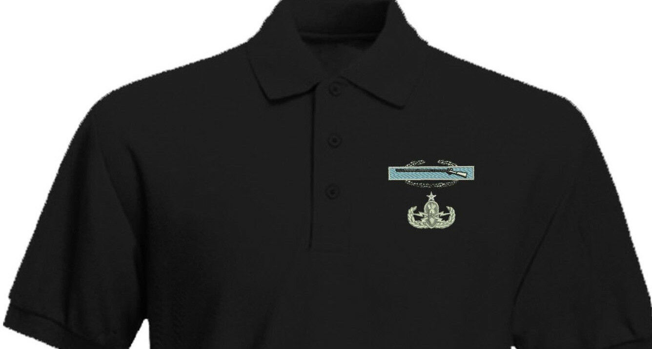 CIB Basic EOD Combat Infantry Explosive Ordnance Disposal Embroidered Shirt