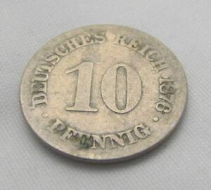 Alter 10 Pfennig 1876 C Deutsches Reich Münze Kleiner Adler